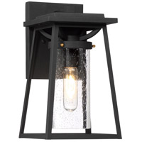 Minka-Lavery 72712-66G Lanister Court 1 Light 13 inch Black/Gold Outdoor Wall Lantern The Great Outdoors