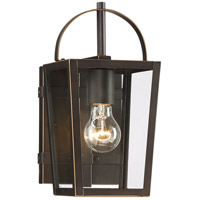 Rangeline 1 Light 11 inch Oil Rubbed Bronze with Gold Highlights Outdoor Wall Light, The Great Outdoors