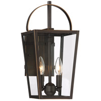 Minka-Lavery 72722-143C Rangeline 2 Light 16 inch Oil Rubbed Bronze with Gold Highlights Outdoor Wall Light The Great Outdoors