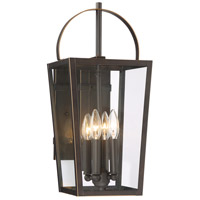 Minka-Lavery 72723-143C Rangeline 4 Light 20 inch Oil Rubbed Bronze with Gold Highlights Outdoor Wall Light The Great Outdoors