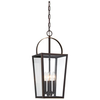 Minka-Lavery 72724-143C Rangeline 4 Light 9 inch Oil Rubbed Bronze with Gold Highlights Outdoor Hanging Lantern The Great Outdoors