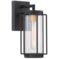 Avonlea 1 Light 13 inch Black with Gold Outdoor Wall Light, The Great Outdoors