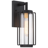Avonlea 1 Light 16 inch Black with Gold Outdoor Wall Light, The Great Outdoors