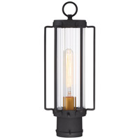 Minka-Lavery 72736-66G Avonlea 1 Light 17 inch Black with Gold Outdoor Post Mount Lantern The Great Outdoors