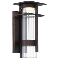 Minka-Lavery 72741-143C-L Kittner LED 14 inch Oil Rubbed Bronze/Gold Highlight Outdoor Wall Lantern