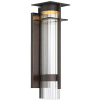 Minka-Lavery 72742-143C-L Kittner LED 21 inch Oil Rubbed Bronze/Gold Highlight Outdoor Wall Lantern