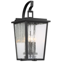 Minka-Lavery 72753-66G Cantebury 4 Light 23 inch Black with Gold Outdoor Wall Light The Great Outdoors