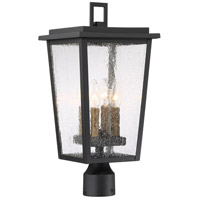 Minka-Lavery 72756-66G Cantebury 4 Light 20 inch Black with Gold Outdoor Post Mount Lantern The Great Outdoors