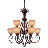 Minka-Lavery Caspian 9 Light Chandelier in Golden Bronze 729-355