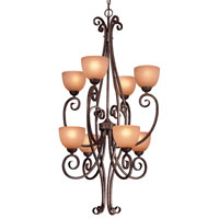 Minka-Lavery Caspian 8 Light Pendant in Golden Bronze 730-355