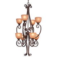 Minka-Lavery Caspian 8 Light Pendant in Golden Bronze 730-355 photo thumbnail
