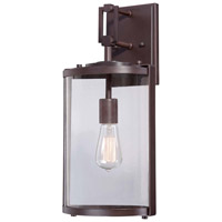 Minka-Lavery Ladera 1 Light Outdoor Lantern in Alder Bronze 73063-246