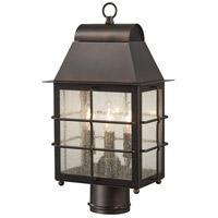 Minka-Lavery 73096-189 Willow Pointe 3 Light 17 inch Chelesa Bronze Outdoor Post Mount Lantern