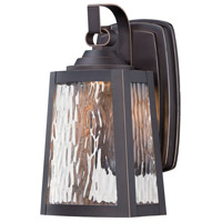 Talera LED 11 inch Oil Rubbed Bronze/Gold Outdoor Wall Mount Lantern
