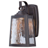 Minka-Lavery Talera 1 Light Outdoor Lantern in Oil Rubbed Bronze And Gold Highlights 73101-143C-L
