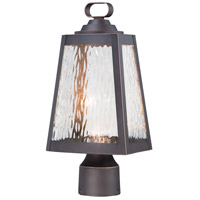Talera LED 15 inch Oil Rubbed Bronze/Gold Outdoor Post Mount Lantern