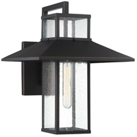 Minka-Lavery 73151-143C Danforth Park 1 Light 16 inch Oil Rubbed Bronze/Gold Outdoor Wall Mount, Great Outdoors