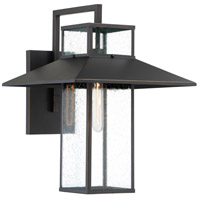 Minka-Lavery 73152-143C Danforth Park 1 Light 19 inch Oil Rubbed Bronze/Gold Outdoor Wall Mount, Great Outdoors