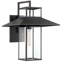 Minka-Lavery 73153-143C Danforth Park 1 Light 22 inch Oil Rubbed Bronze/Gold Outdoor Wall Mount, Great Outdoors