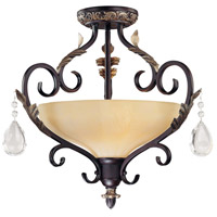Minka-Lavery 770-301 Bellasera 2 Light 18 inch Castlewood Walnut w/Silver Highlights Semi-flush Ceiling Light photo thumbnail