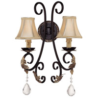 Minka-Lavery Bellasera 2 Light Sconce in Castlewood Walnut w/Silver Highlights 772-301
