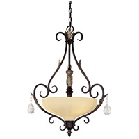 Bellasera 3 Light 24 inch Castlewood Walnut/Silver Pendant Ceiling Light