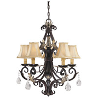 Minka-Lavery Bellasera 5 Light Chandelier in Castlewood Walnut w/Silver Highlights 775-301