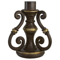 The Great Outdoors by Minka Signature Scroll Pier Mount in Ravello Bronze w/Gold Highlights 7940-198B