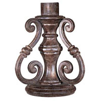 The Great Outdoors by Minka Signature Scroll Pier Mount in Vintage Rust 7940-61