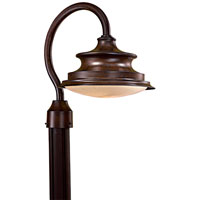 The Great Outdoors by Minka Vanira Place 1 Light Post Light in Windsor Rust 8126-A188-PL
