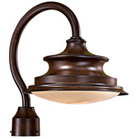 Vanira Place 1 Light 16 inch Windsor Rust Outdoor Post Mount