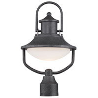 Crest Ridge LED 17 inch Forged Silver Outdoor Post Mount Lantern