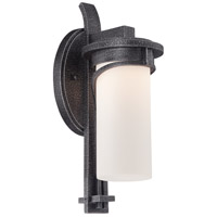Holbrook LED 15 inch Forged Stone Silver Outdoor Wall Mount