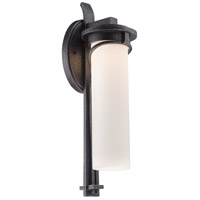 Minka Lavery Holbrook LED Outdoor Wall Lantern in Forged Stone Silver 8153-568-L