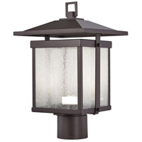 Hillsdale LED 15 inch Dorian Bronze Outdoor Post Mount Lantern