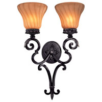 The Great Outdoors by Minka Telford 2 Light Outdoor Wall in Heritage w/Silver Highlights 8193-164