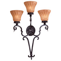 The Great Outdoors by Minka Telford 3 Light Outdoor Wall in Heritage w/Silver Highlights 8197-164