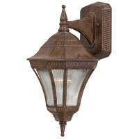 Segovia 1 Light 15 inch Vintage Rust Outdoor Wall Mount Lantern