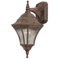 Segovia 1 Light 17 inch Vintage Rust Outdoor Wall Mount Lantern