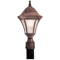 Segovia 1 Light 17 inch Vintage Rust Post Light in GU24
