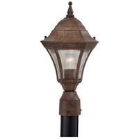 Segovia 1 Light 17 inch Vintage Rust Outdoor Post Mount Lantern