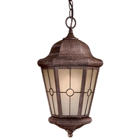 Minka-Lavery 8214-A61-PL Montellero 1 Light 10 inch Vintage Rust Outdoor Chain Hung Light, Great Outdoors