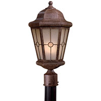 The Great Outdoors by Minka Montellero 1 Light Post Light in Vintage Rust 8216-A61-PL