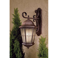 The Great Outdoors by Minka Montellero 1 Light Wall Mount in Vintage Rust Finish w/Double French Scavo Glass 8217-61-PL