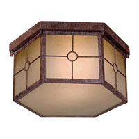 The Great Outdoors by Minka Montellero 1 Light Flushmount in Vintage Rust 8219-A61-PL