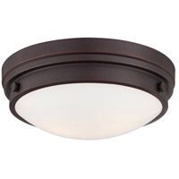 Signature 2 Light 13 inch Lathan Bronze Flush Mount Ceiling Light