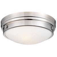 Minka-Lavery 823-77 Signature 2 Light 13 inch Chrome Flush Mount Ceiling Light