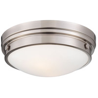 Minka-Lavery 823-84 Signature 2 Light 13 inch Brushed Nickel Flush Mount Ceiling Light photo thumbnail