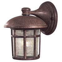 Cranston 1 Light 9 inch Vintage Rust Outdoor Wall Mount Lantern