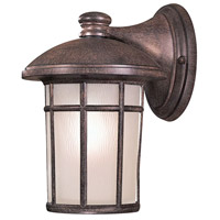 Cranston 1 Light 13 inch Vintage Rust Outdoor Wall in GU24